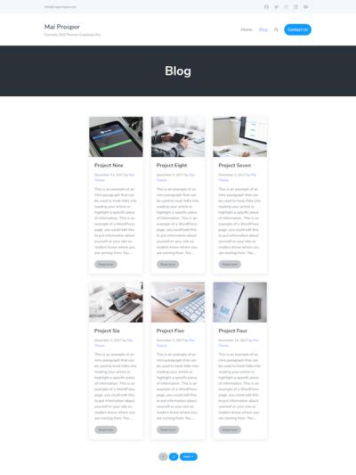 Demo image of a Mai Prosper Corporate blog post layout