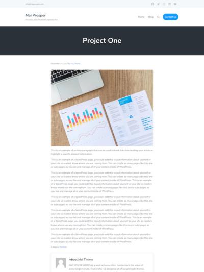 Demo image of a Mai Prosper Corporate page