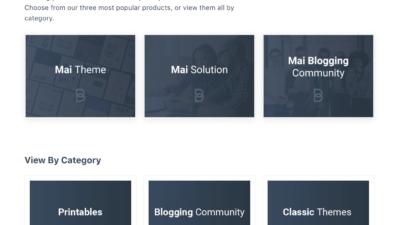 Screenshot of Ecommerce products