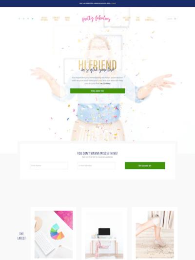 Demo image of a Mai Fabulous homepage