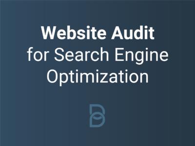 Website audit for search engine optimization logo