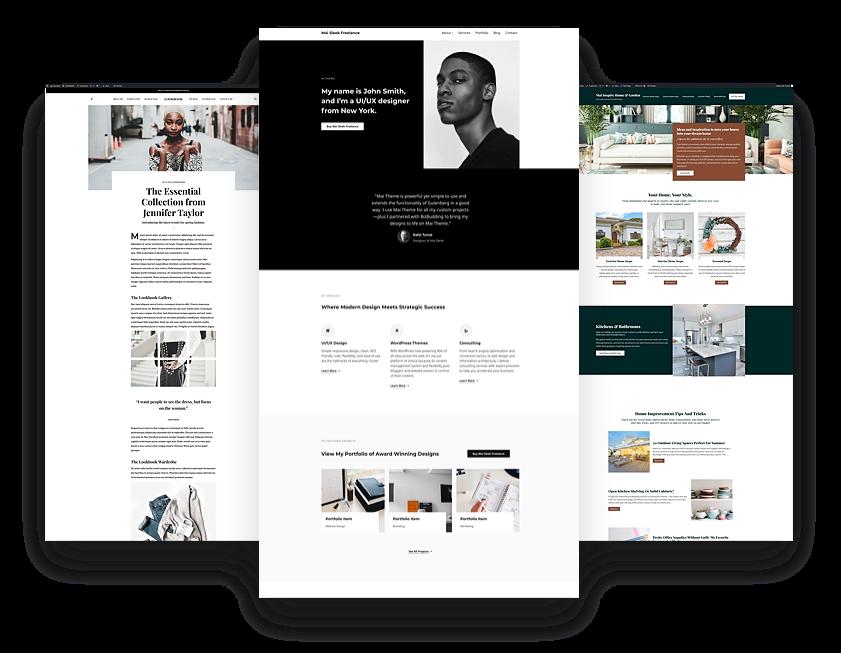 Website design partner template image