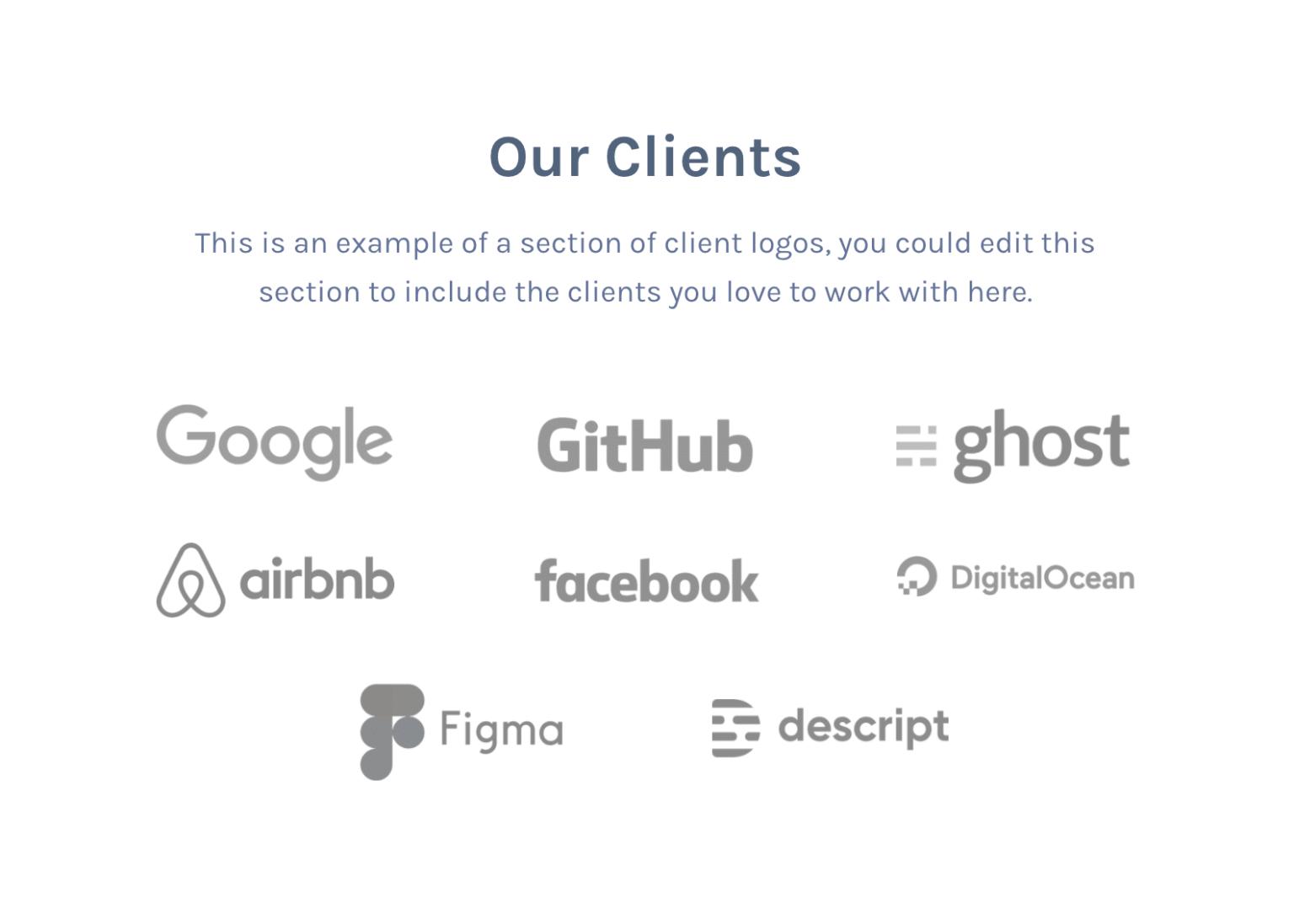 Client logos with Mai Columns